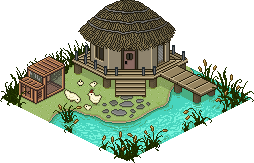 Pixel Art Town - Tranquil Hut by ArtOfEdge