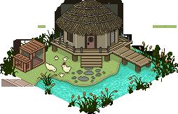 Pixel Art Town - Tranquil Hut by ArtOfEdge