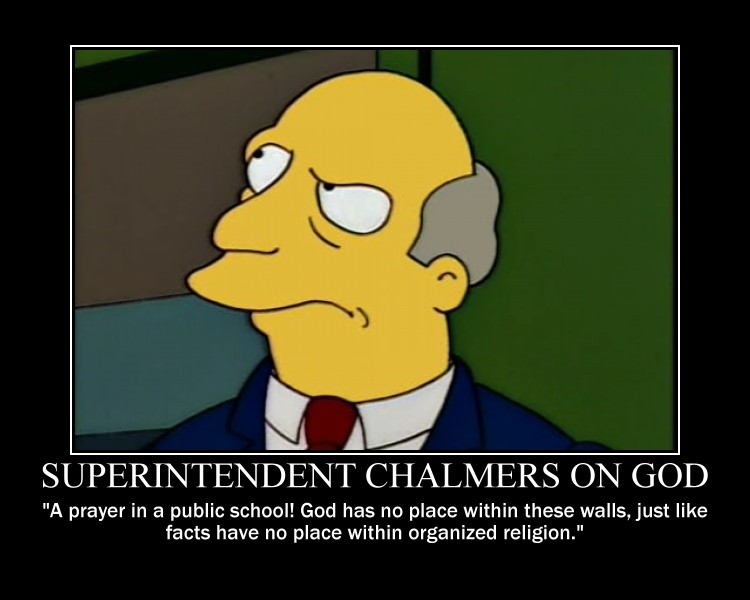 Superintendent Superintendent chalmers on god