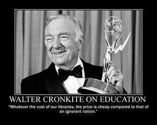 Walter Cronkite on Education by fiskefyren