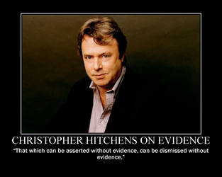 Christopher Hitchens on evidence by fiskefyren