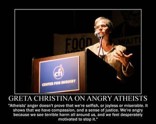 Greta Christina on Angry Atheists by fiskefyren