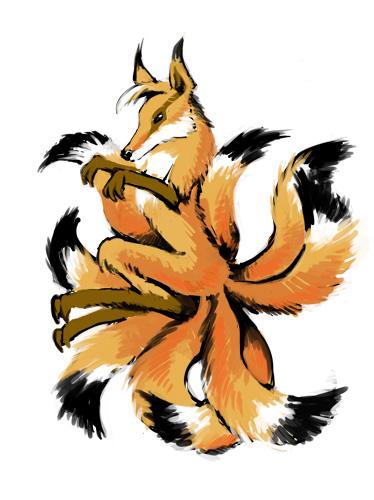 9-tail fox by Balabanov