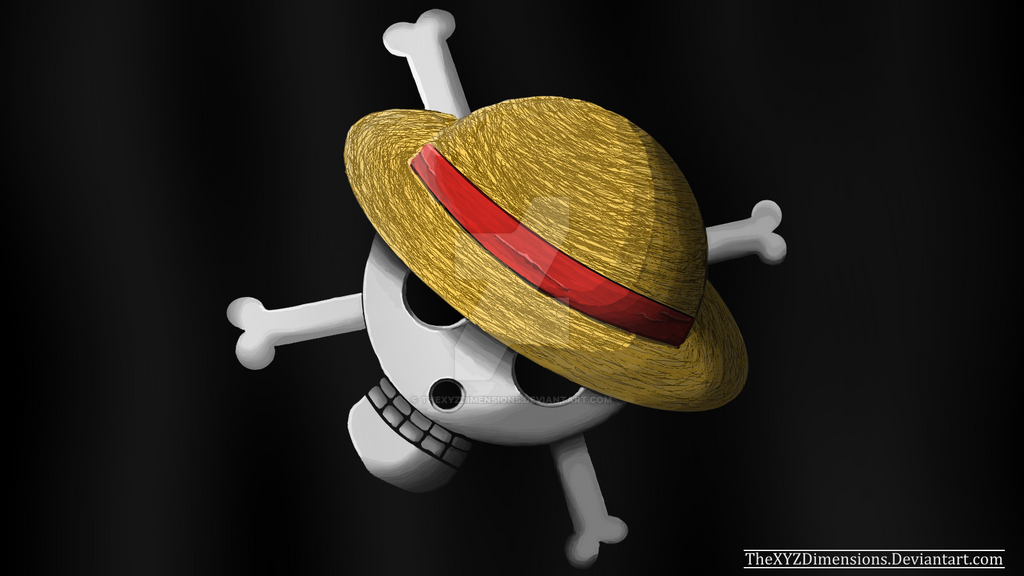 one piece realistic strawhat pirate flag by