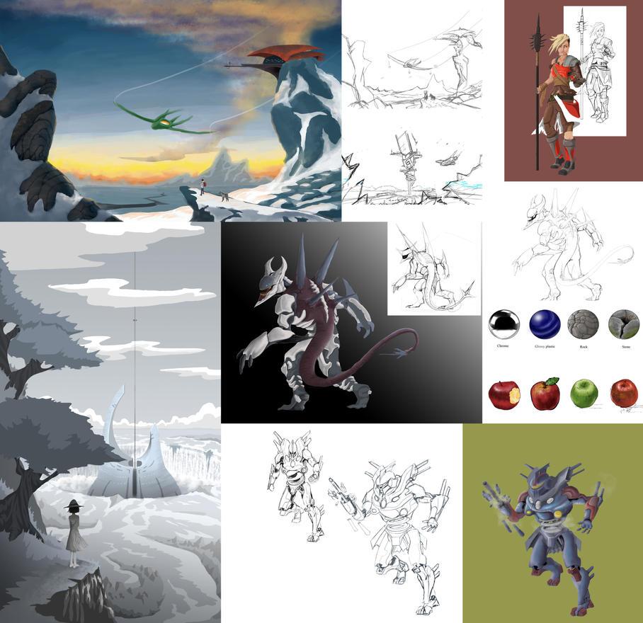 Summer Digital Art Class in a nutshell by Ninjaboomer44