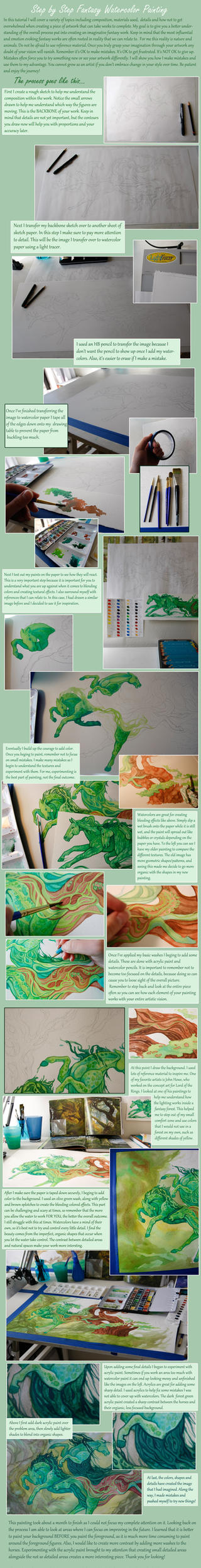 Watercolor Tutorial: Fantasy Painting by Aikya