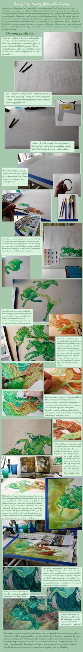 Watercolor Tutorial: Fantasy Painting by Aikya