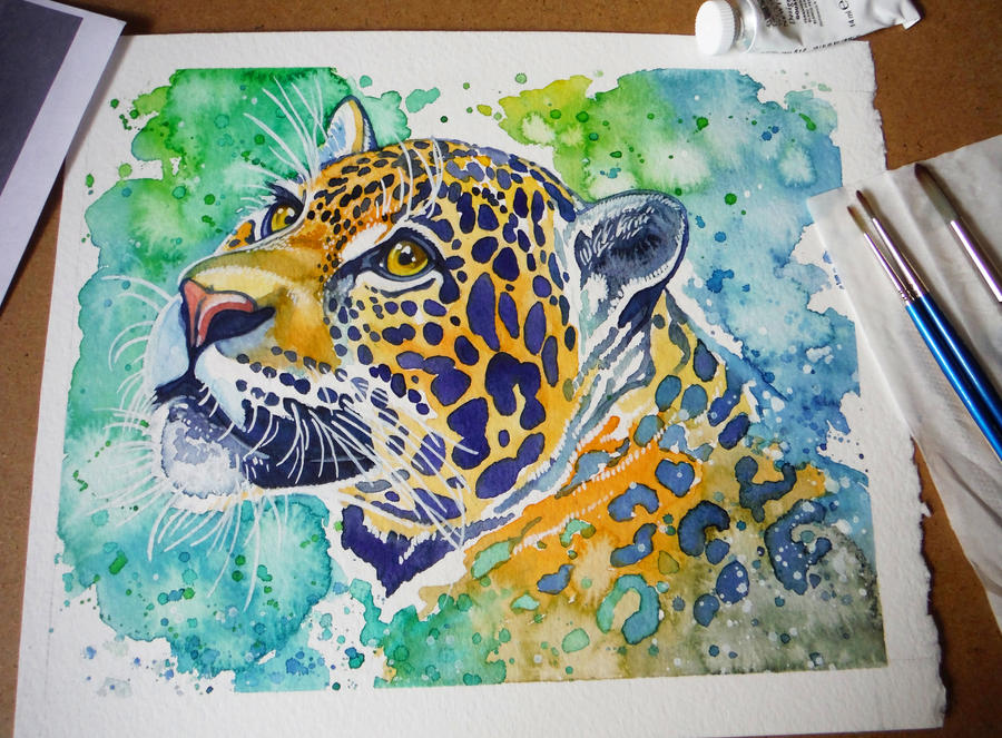 Colorful Jaguar by Aikya