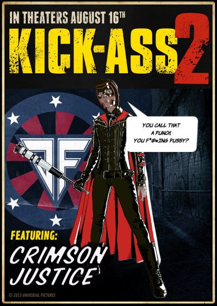 Kick Ass 2 Avatar Creator : Crimson Justice by bloodbendingyouth14