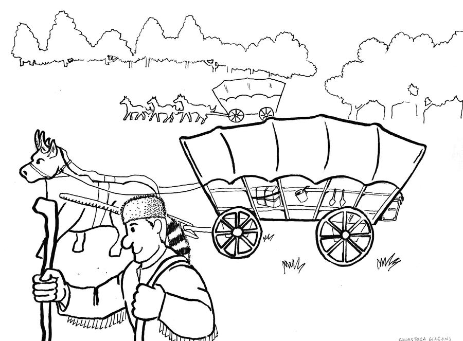 wagon train coloring pages | The Great Wagon Trains by captblitzdawg on DeviantArt