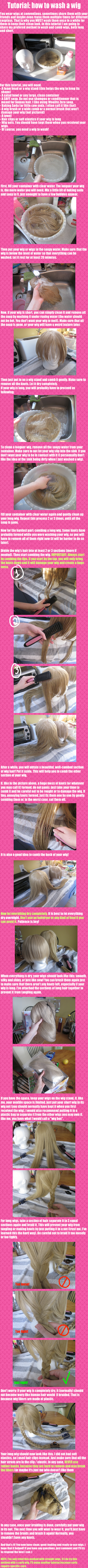 Tutorial: How to wash a wig by Kisshu-Neko