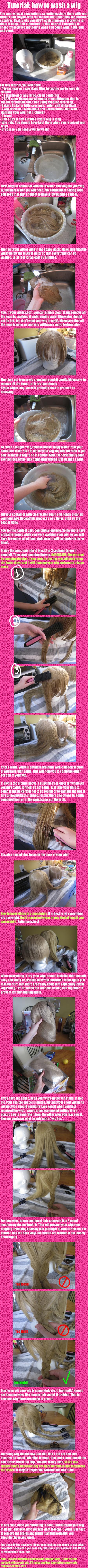 Tutorial: How to wash a wig by Kisshu-Neko