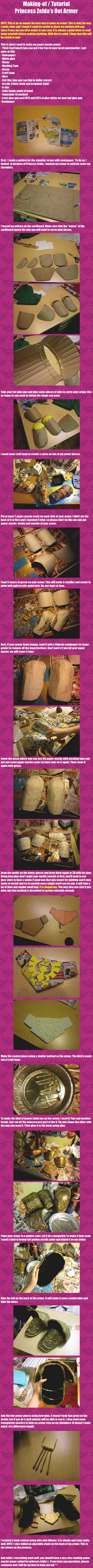 Making-of / Tutorial of Princess Zelda's OoT armor