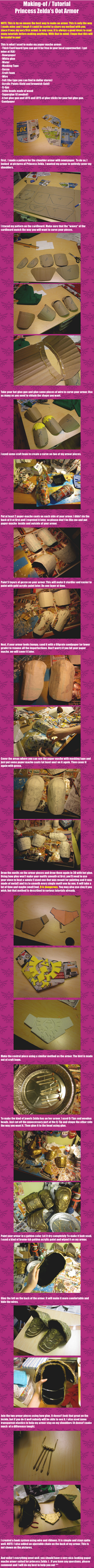 Making-of / Tutorial of Princess Zelda's OoT armor