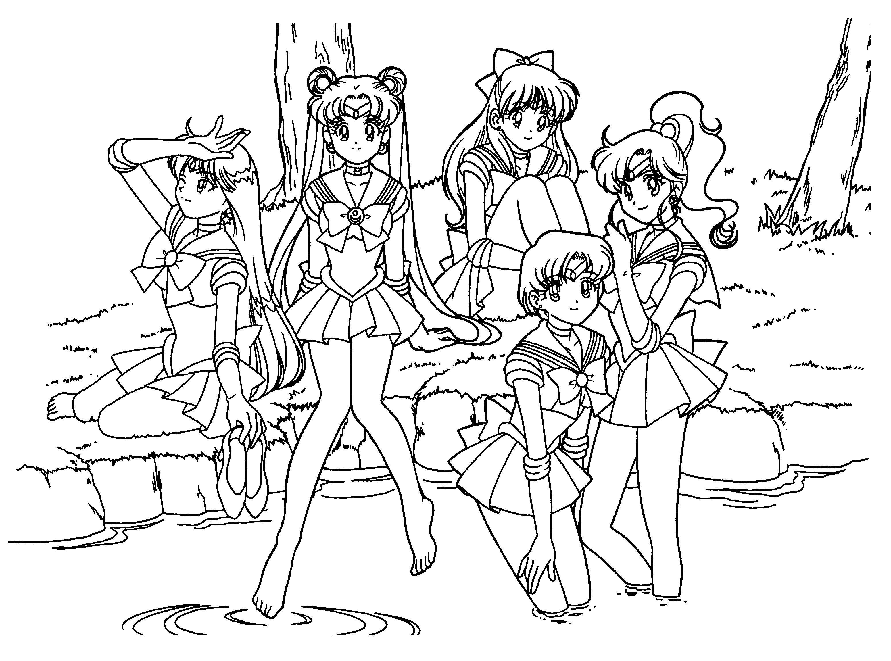 sailor moon group coloring pages sailor moon group 1 by drawingblank2 on deviantart