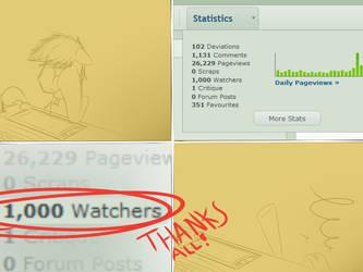 1000 WATCHER MILESTONE by Wreky
