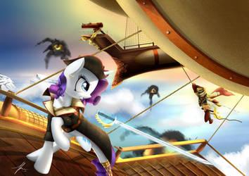 Skypirates - Admiral AJ vs Pirarity by Wreky