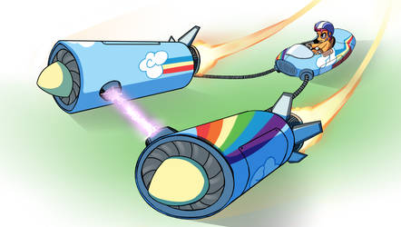 Scootaloo Podracing by Wreky