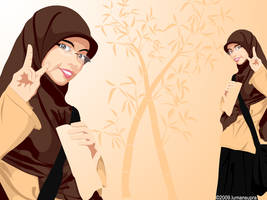 Beautiful Girl with Hijab by lumansupra