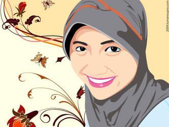 Girl with Hijab by lumansupra