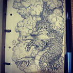 Dragon in Clouds