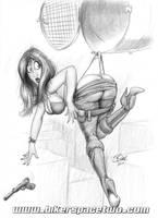 Jane, in Peril... sorta. by Bikerbloke