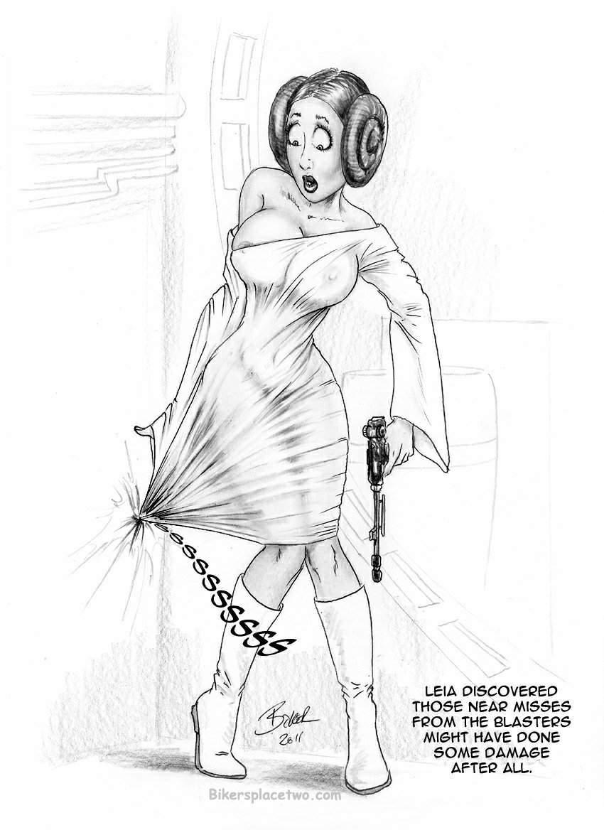 Leia's dilemma by Bikerbloke