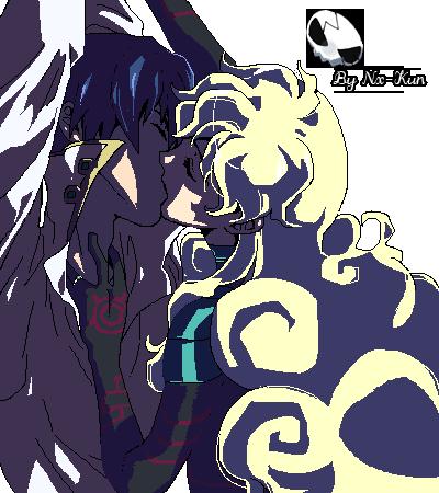 Simon and Nia Anti Spiral Kiss by Nerox-Kun