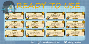 Cheap Honey and Bee theme twitch panels (premade)