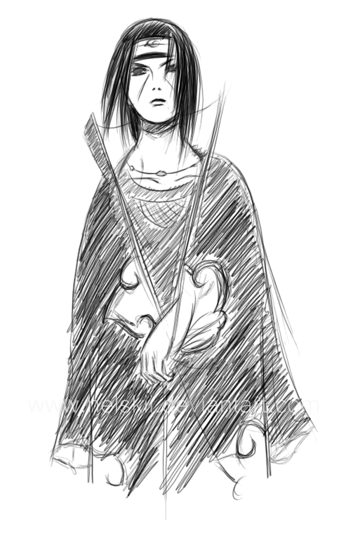 Itachi sketch by Nelskii