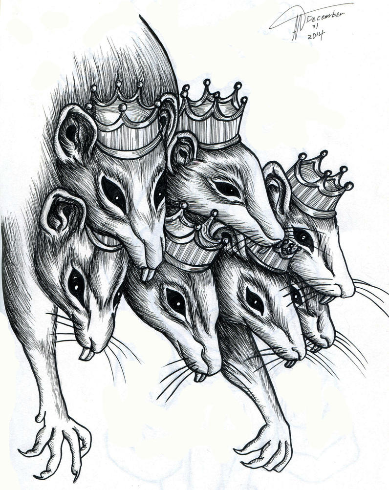The Nutcracker's Rat King by Inkwerk