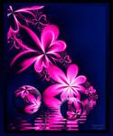 Flowers in lake