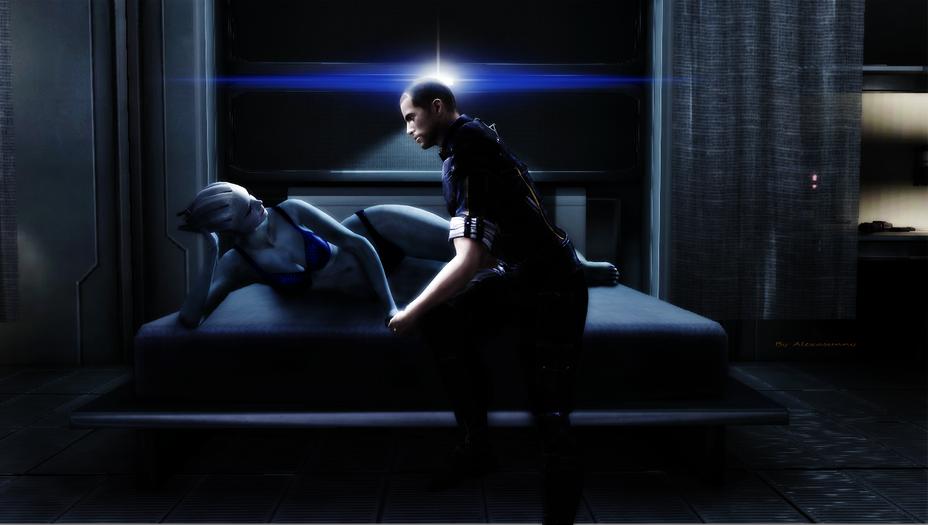 Liara and Shepard request by Alexasunny
