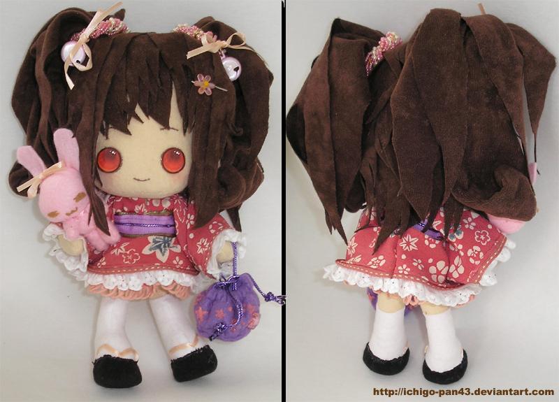 Wa-loli OC plushie by ichigo-pan43