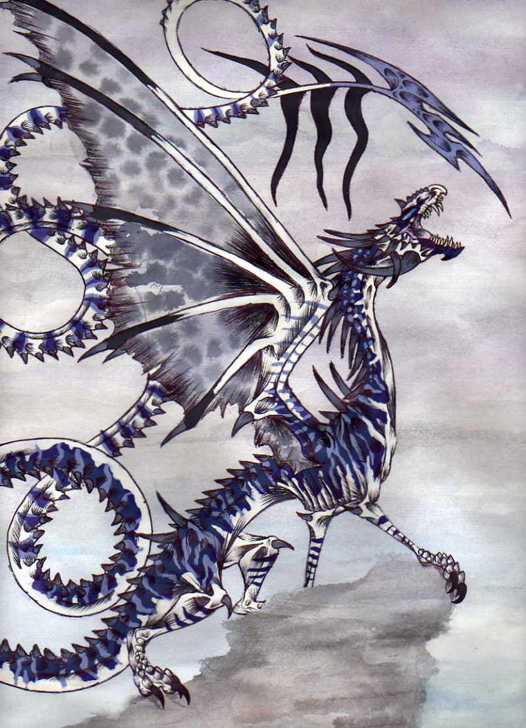 The Storm Dragon by Dracanid