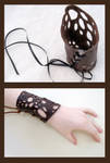 Leather Lace Cuffs