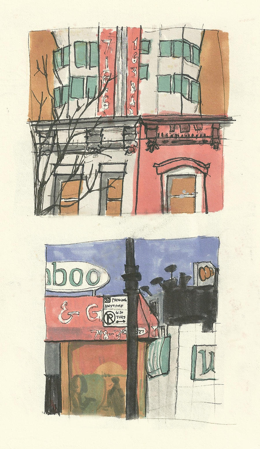 Myrtle Avenue Diptych by guilty-bystander