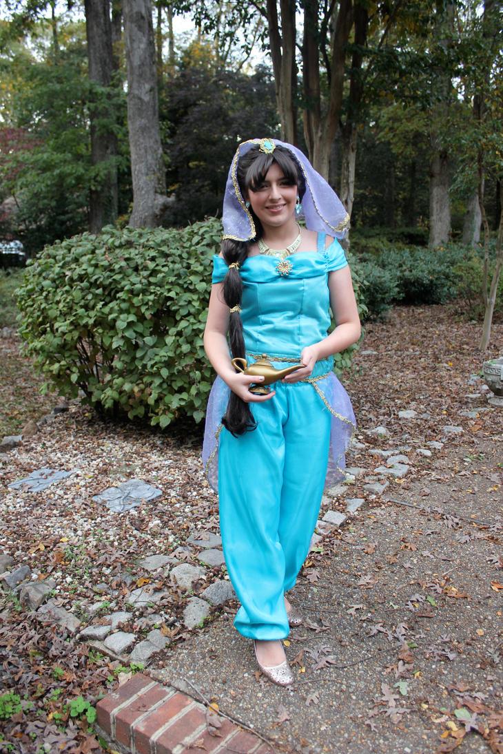 Halloween 2012- Princess Jasmine Handmade Costume by strawberryrfp