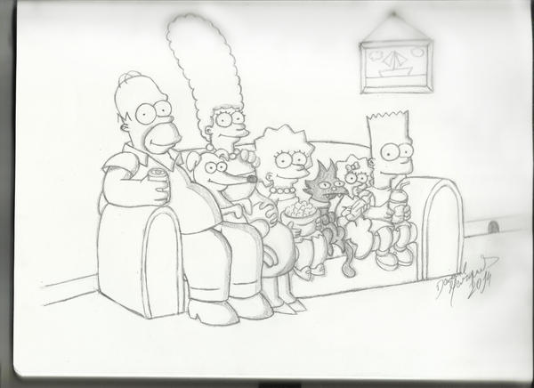 The Simpsons by Destincor