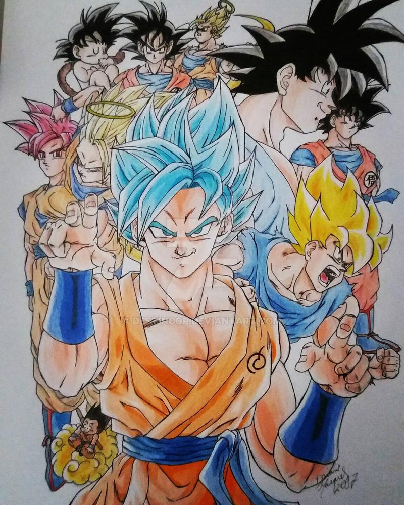 Goku all forms by Destincor