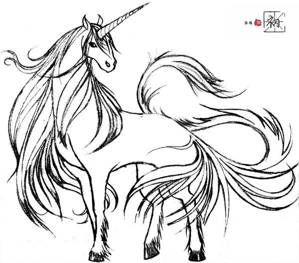 Line Drawing Unicorn : Unicorn style script by chuchu horse on deviantart