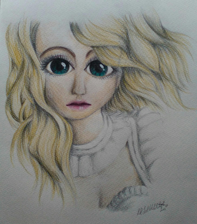 Girl colored drawing by Eternal-Claritas