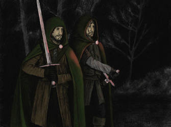 Rangers: Aragorn and Halbarad by AinuLaire