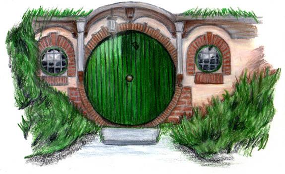 Thank You: Bag End Hobbit Door