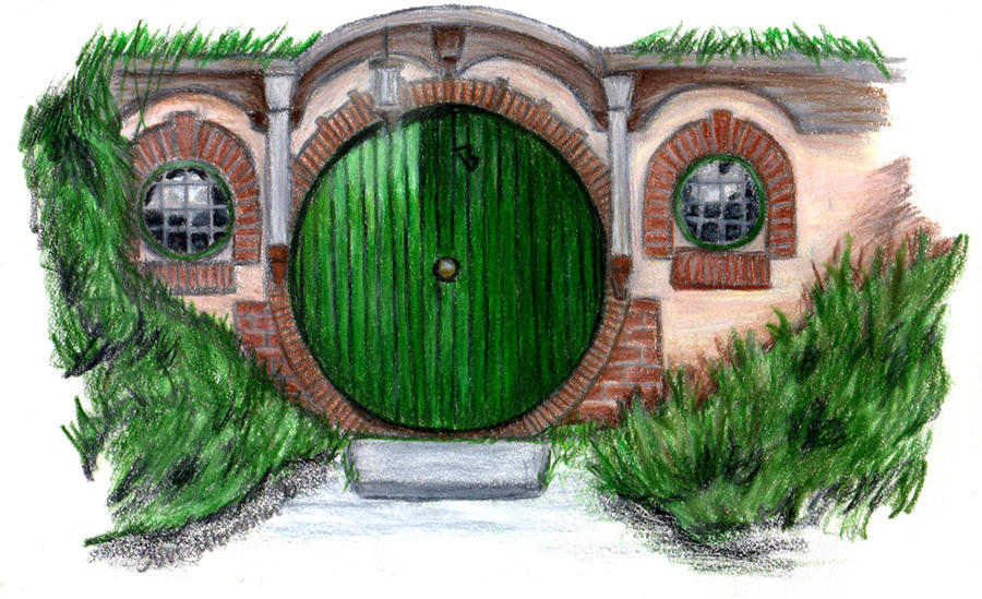Thank you bag end hobbit door by ainulaire on deviantart - Hobbit book ends ...