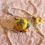 Vintage Rococo Pastel Yellow Macaroon and Roses by Fraise-Bonbon