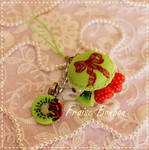 Vintage Rococo Green Macaroon and fruits by Fraise-Bonbon