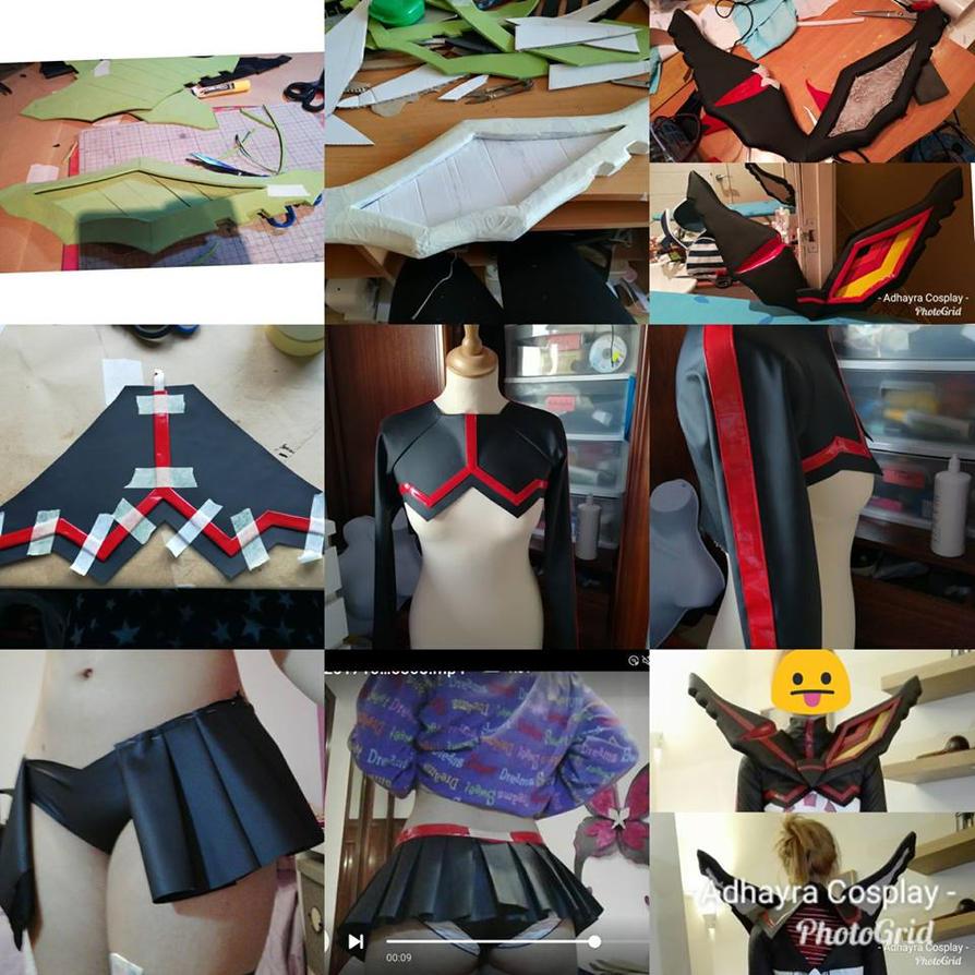 Ryuko Matoi Kamui Senketsu Work in Progress by AdhayraCosplay