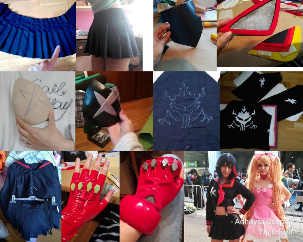 Ryuko Matoi Senketsu Uniform Work in Progress by AdhayraCosplay