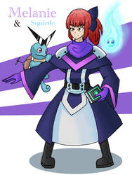 Melanie the Mage and her Squirtle